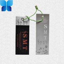 Hangtag di carta impermeabile personalizzato per il tessuto vestiti/dell'abito