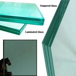 Français 6.76-12.38mm Vert clair et coloré le verre feuilleté