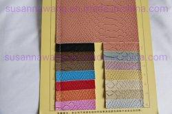 Bl1854 Peau de serpent Aritificial gaufré synthétique en PVC pour les sacs en cuir/PU/chaussures/canapé/chaises