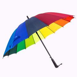 最も安いカスタマイズされたプリントが付いている虹の多彩な広告の傘