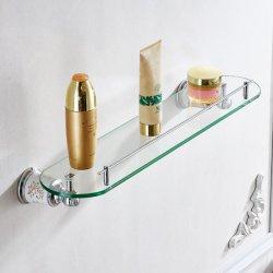 حمام FLG رف زجاجي الحمام تركيب على الجدار