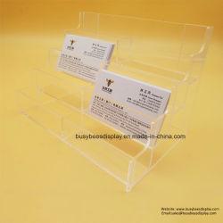 8-groeven ontruim de het het Transparante Acryl Plastic TegenAdreskaartje van identiteitskaart van de Vertoning/Brochure/Tijdschrift/Boek van het Menu/van de Nota/Houder van het Weefsel/van het Pamflet voor Reclame