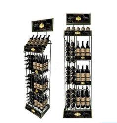 La posizione ha personalizzato la visualizzazione del vino degli occhiali da sole del pavimento dello scomparto della memoria del rubinetto di mostra degli strumenti del pavimento di Pegboard del nastro metallico di marchio