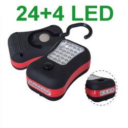 휴대 2-모드 3AAA 미니 휴대용 자석 24 + 4 LED 차량용 트럭 검사 유지 보수/수리 라이트 야외 캠핑 Flashlight Torch