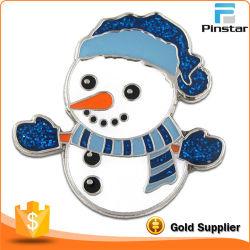 Vacaciones de Navidad muñeco de nieve Brooch insignia de solapa