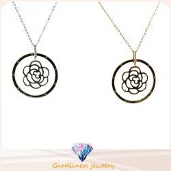 De in het groot Vrouwen van de Manier namen Juwelen 925 van de Tegenhanger van de Bloem Zilveren halsband toe Strling (N6731)