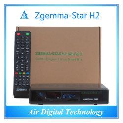 Descodificador de televisão europeus HD DVB T2 DVB S2 Zgemma-Star H2