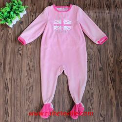 Romper Mirofleece rose, le caoutchouc Imprimer Jumpsuit pour bébés