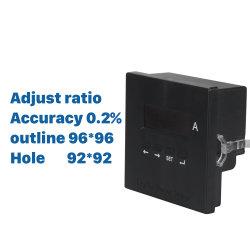 2018 진행한 AC 단일 위상 디지털 암페어 미터는 간단한 내재되어 있던 작풍이 발광 다이오드 표시 범위 0-9999A를 설치하는 비율 전류계를 조정한다