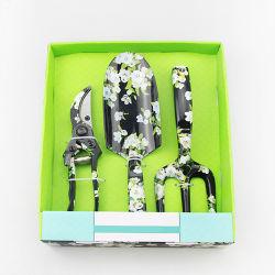 Mini Jardin floral des outils à main avec l'impression, 3 PC