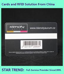 El PVC/PET/papel de la tarjeta de código de barras usado como Super Market Card, Tarjeta de Socio, tarjeta de biblioteca, etc.