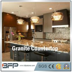 G684 Basalto Cocina encimera de granito negro con borde alivió el tratamiento