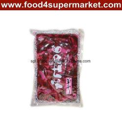 In Essig eingelegte Sushi-Gurke-Scheibe Fukujinzuke rosafarbener/roter Beutel 300g