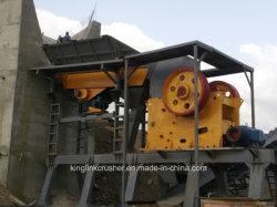 生産ラインを作る玄武岩の石造りの押しつぶすプラントおよび砂