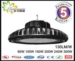 세륨 RoHS 승인되는 130lm/W UFO LED Highbay 가벼운 100W 의 UFO LED 산업 점화, LED 산업 Hig 만 점화