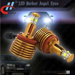 Ojos Aprobados de Angelel de la Etiqueta de Plástico de E-MARK 40W LED para la Luz del Automóvil de BMW