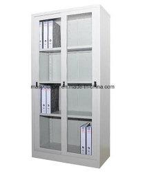 Bureau de l'acier de gros de meubles de rangement Almari à bas prix porte coulissante en verre placard de dépôt