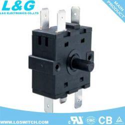 1-6 de Elektro Roterende Schakelaar 125V/250VAC van posities voor Ventilator, de Oven van de Broodrooster, Tijdopnemer en de Fabriek China van het Keukengerei