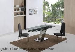 명확한 형식 디자인 유리제 테이블 스테인리스 다리 홈 가구