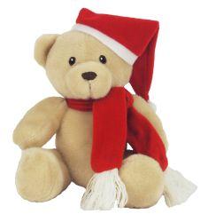 Vacances de Noël traditionnel ours en peluche jouet en peluche avec écharpe rouge