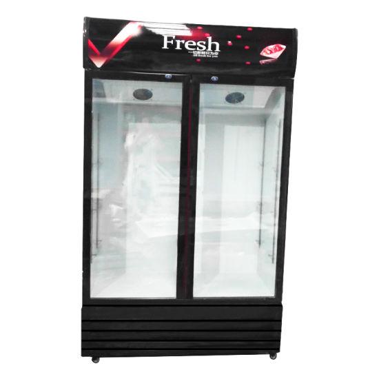 Commercial Supermarket Vertical Storage Beverage Chiller Showcase for Hotel