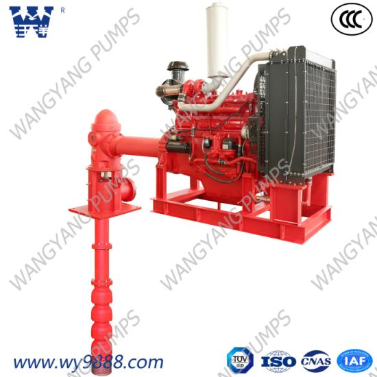 Vertical Turbine Fire Pump Driven by Diesel Engine