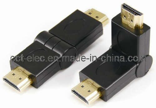 HDMI Male to HDMI Male Adaptor, Swing Type