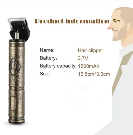 Electric Rechargeable PRO Li Grooming Cordless Close Cutting T-Blade Trimmer for Men 0 mm Baldheaded Hair Clippers Zero Gaped Detail Beard Shaver Barbershop