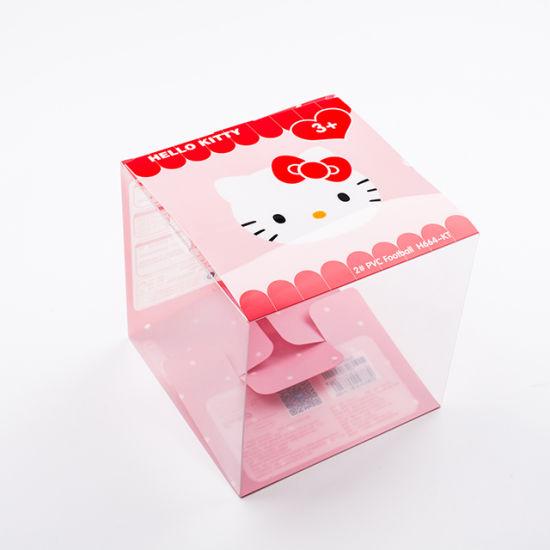 Hot Sales Custom Printing Gift Clear Foldable Plastic Box