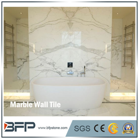 Bookmatched Marble Interior Wall Slab Tile For Bathroom Cladding