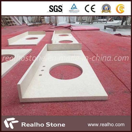Prefab Granite/Marble/Quartz/Travertine/Terrazzo/Limestone Vanity Tops for  Bathroom