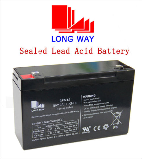 Sealed Rechargeable Lead-Acid Battery for Storage Power Supply (6V12AH/20HR)