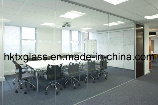 China Meeting Room Glass Wall With En And ANSI Certificate - Frosted glass conference room table