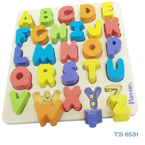 New Design Good Quanlity Wooden Alphabet Puzzle