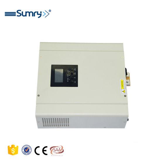 Pure Sine Wave Inverter 3kVA 2400W High Frequency Inverter Built in Solar Controller 50A Input 24V Output 220V