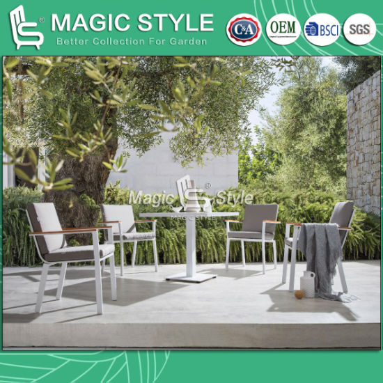 Outdoor Coffee Dining Set with Polywood Armrest Cafe Coffee Chair Garden Coffee Table Patio Furniture Hotel Furniture pictures & photos