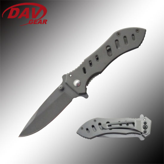 """7.5""""Liner Lock Folding Pocket Knife Stainless Steel Blade and Handle"""