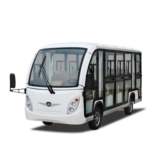 14 Passenger Vehicles Electric Shuttle Bus City Tourist Sightseeing Bus with Heater and Air Conditioning