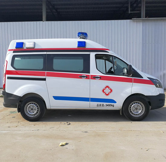 High Roof Long Length City ICU Emergency Vehicle Mobile Ambulance