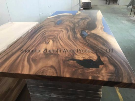 China Live Edge Slab Table South America Walnut Table Natural Edge