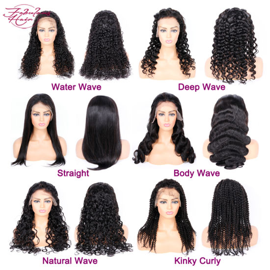Factory Directly Sell Natural Color Lace Front Wig with Full Lace Wigs Brazilian Human Hair Wig pictures & photos