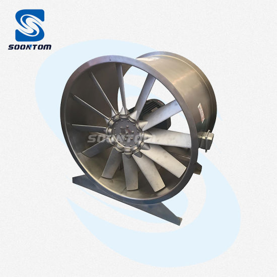 Good Quality Stainless Steel Exhaust Blower Axial Fan for Hotel & Supermarket with SUS 304 or SUS 316 Material