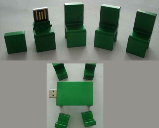 Customized Desk Chair Shaped Furniture USB Flash Pen Drive Memory
