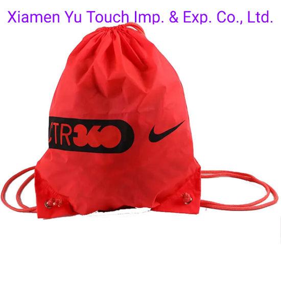 Wholesale Factory Custom Marathon Sport Polyester Drawstring Bag for Promotion