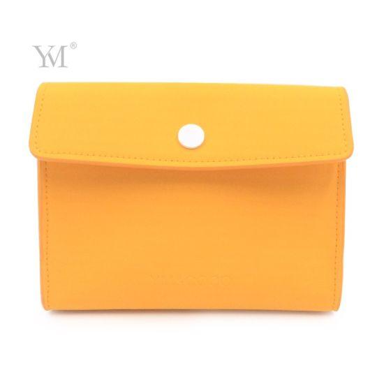 Ladies Good Quality Matt PU Custom Color Envelop Toiletry Bag