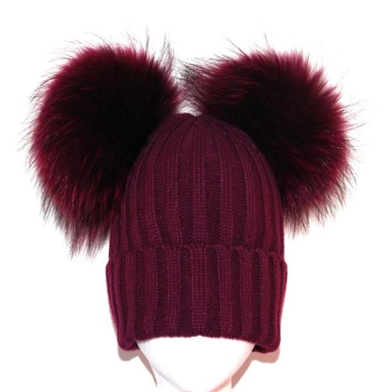 2017 Girls Winter Knitted Hats Pompom Beanies