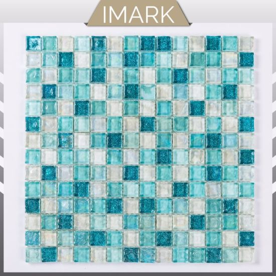 Cheap Price Iridescent Glass Mosaic for Swimming Pool Tile