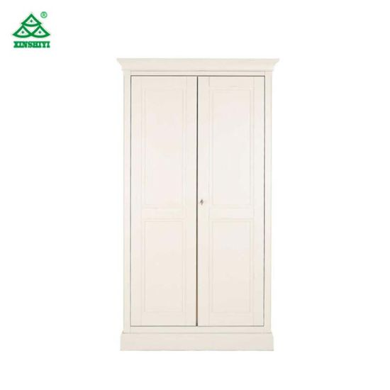 White Lacquer Bedroom Armoire Wardrobe Closet, European Style Wooden Wardrobe  Closet