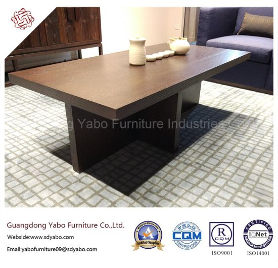 Genial Durable Hotel Furniture With Lobby Wooden Coffee Table (YB W11 1)