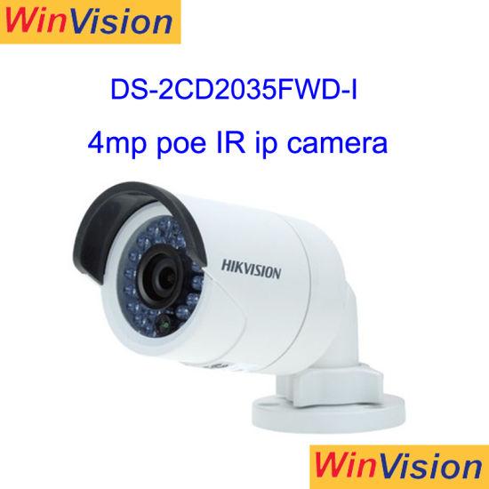 China Hikvision 4MP HD IR Network Surveillance CCTV Bullet Poe IP